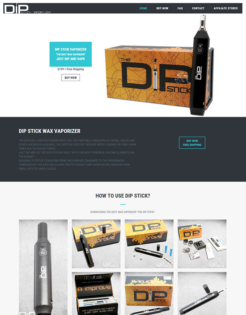 DipStickVaporizer.com Official website branding e-commerce website digital marketing