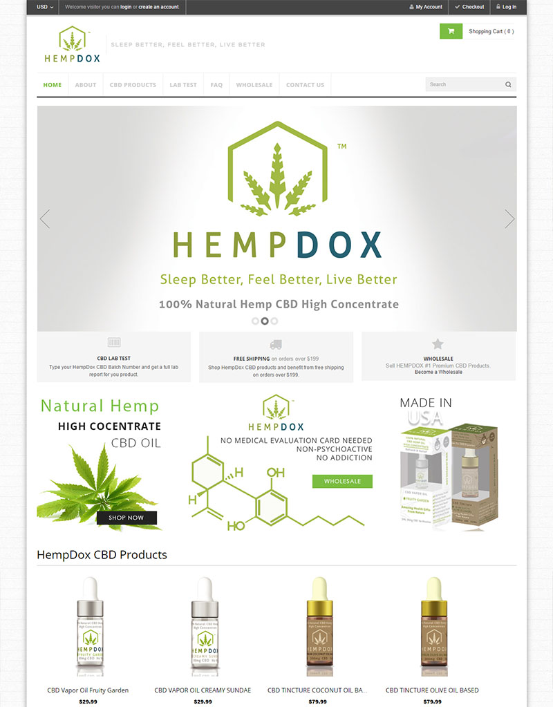 HempDox Digital Marketing E-commerce Website Social Media Management