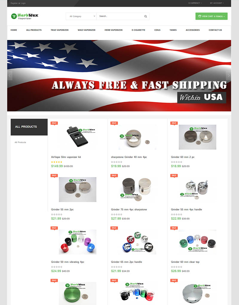 herb wax vaporizer online store ecommerce marketing