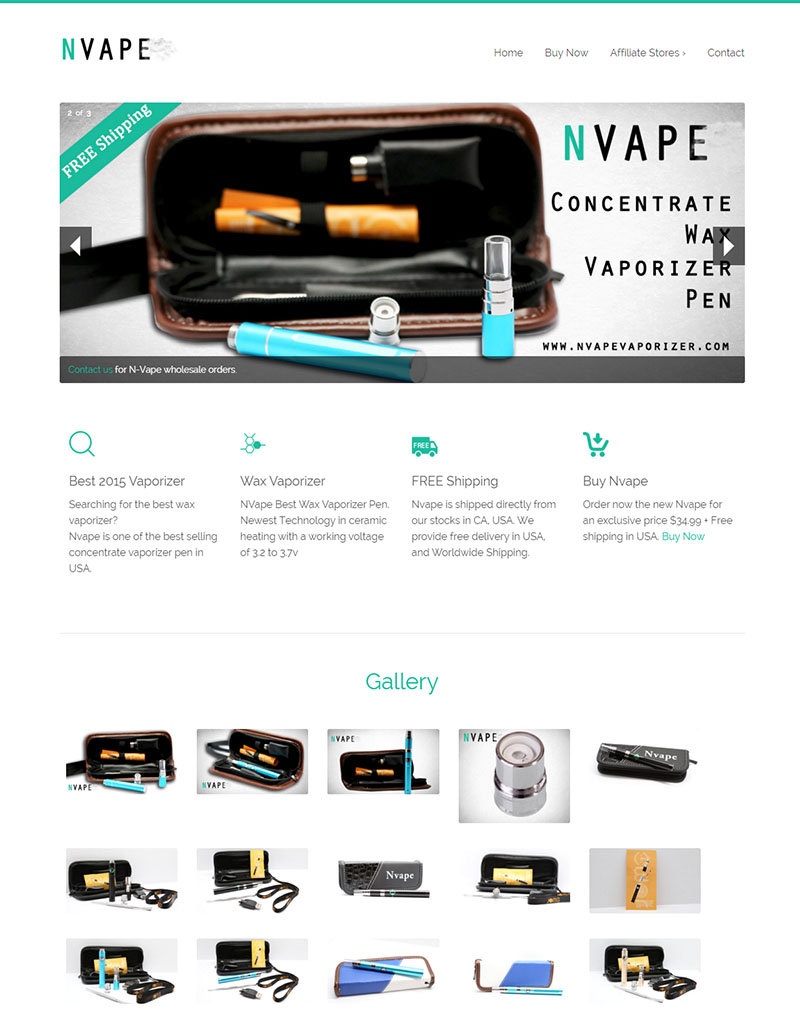 Nvape Digital Marketing Vaporizer E-commerce Website SEO